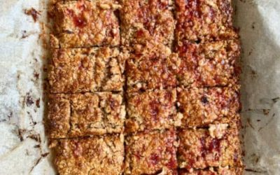 Peanut Butter and Jam Porridge To Go Bars